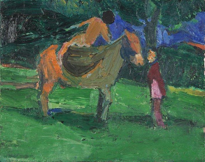 TBrown_Horse&rider_1961