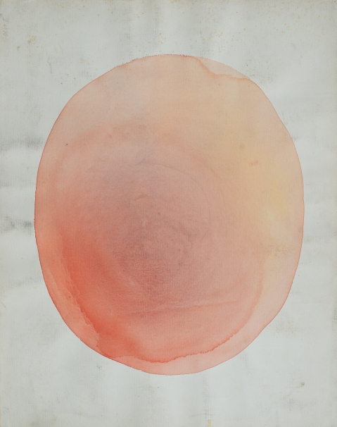 Julio Ramos, 'Red Planet', watercolor on paper, 19x24 inch ,1970