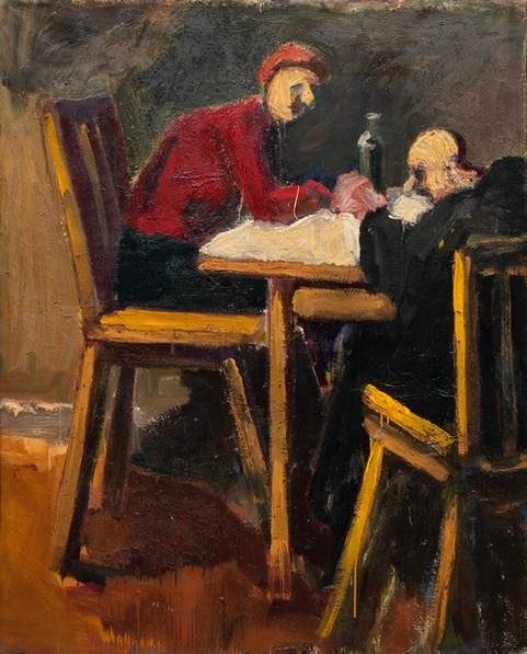 Mother_and_Father_1960_Oil_on_canvas_70_X_56