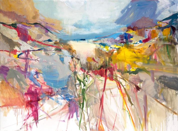 L'arrivée à Locmaria, 2020   Oil on canvas   59 x 78 inches
