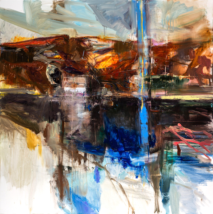 L'éclair lac, 2020 | Oil on canvas | 59 x 59 inches